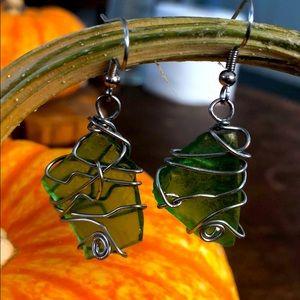Glass earring handmade one of a kind